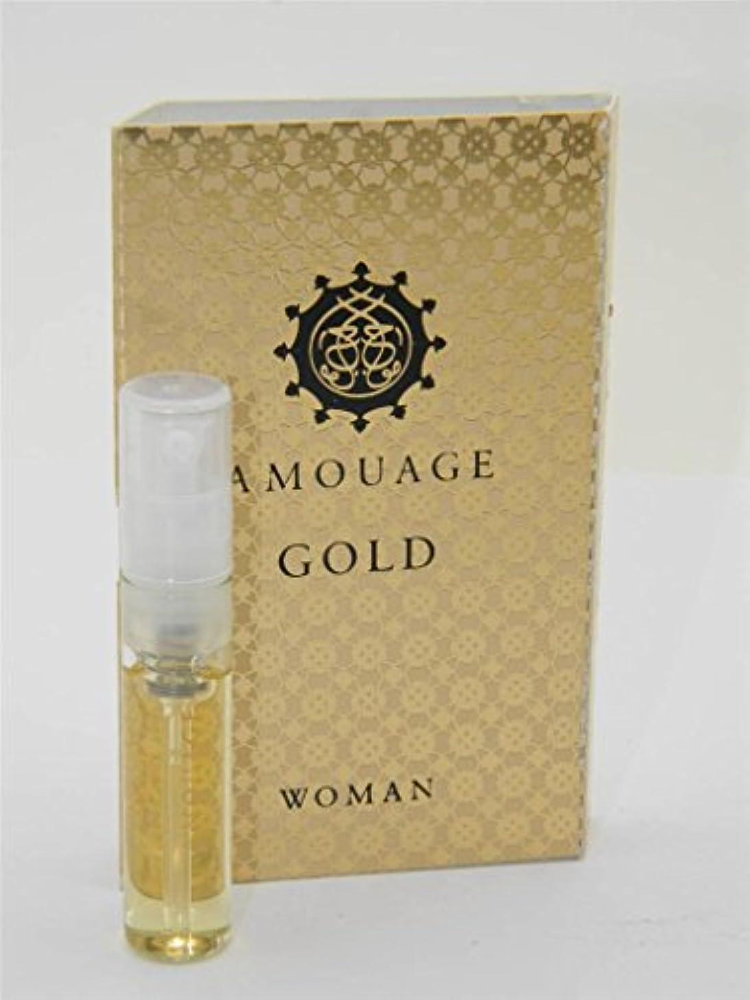 蘇生する特徴づける株式会社Amouage Gold Woman EDP Vial Sample 2ml (アムアージュ ゴールド ウーマン オードパルファン 2ml )[海外直送品]