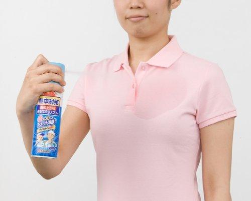 熱中対策 服の上から体を冷やすスプレー 無香料
