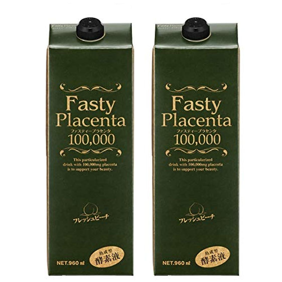 進行中無視できる大理石ファスティープラセンタ100,000 増量パック(フレッシュピーチ味) 2本