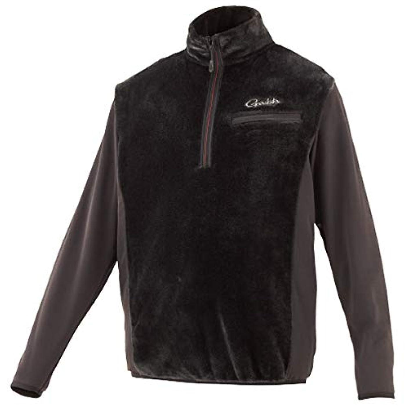 決定的ロードハウス原始的ながまかつ ボアFハーフジップシャツ ブラック GM-3614 L