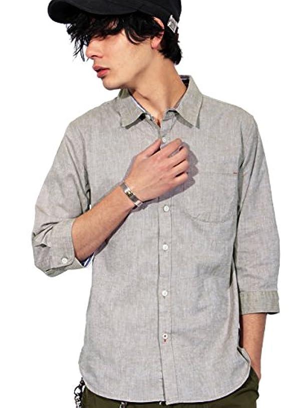 勝利したシェルター吸収剤(エイト) 8(eight)6color リネン 7分袖シャツ 綿 麻 涼しい