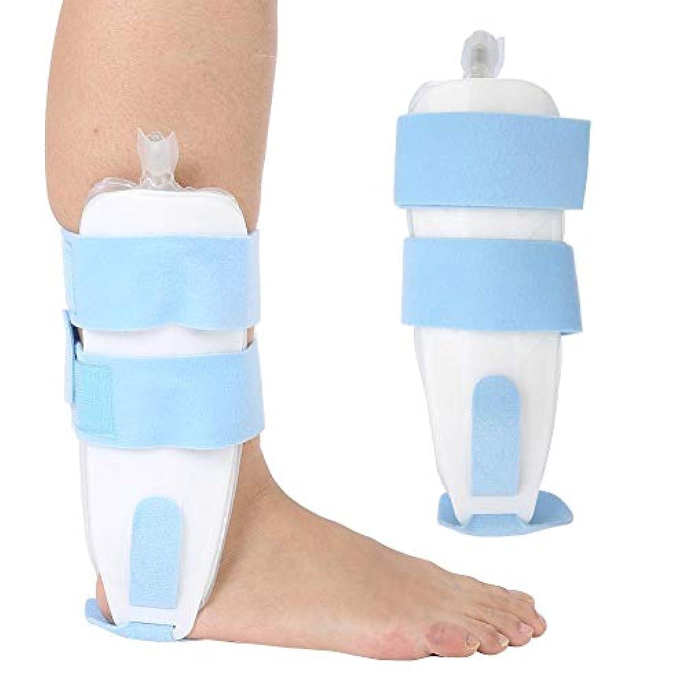 終点誰でも行き当たりばったり調節可能な足首サポートエアブレースインフレータブルスプリント捻挫スタビライザーガードストラップ