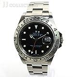 【中古】ロレックス エクスプローラー2 Ref.16570 Y番 メンズ腕時計 SS AT(自動巻き) デイト ブラック文字盤