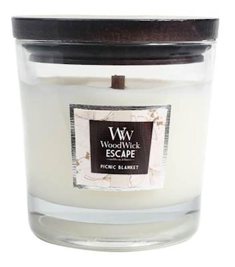 リーズ剥離王位ピクニックブランケットWoodWickエスケープLarge 2-wick Jar Candle