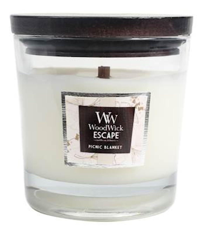 処方施設ゆでるピクニックブランケットWoodWickエスケープLarge 2-wick Jar Candle