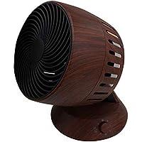 サーキュレーター 木目調 風量3段階 左右首振り 風向調整可能 軽量 コンパクト 持ち運び便利 省エネ設計 省スペース 扇風機 エアコン 冷暖房の効率アップ サーキューレーター おしゃれ (ダークブラウン)