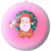 Oldeagle クリスマスサンタクロース パン低反発圧力スクイーズ ストレス解消玩具 キーペンダント 子供と大人用 8x 8x 5CM 84374149