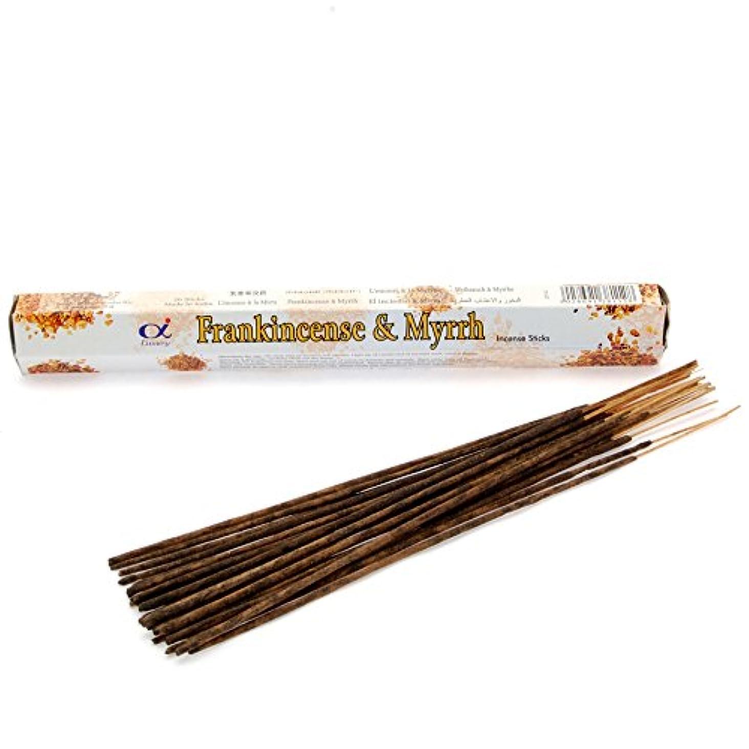 再撮りバイナリ紀元前Stamford Frankincense and Myrrh Incense Sticks
