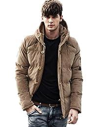 (マガザンレーブ) mgzan rev メンズ ファッション 冬 服 カジュアル ダウン ジャケット アウター フード 付き 防寒着 上着 3 色 M ~ XL DA-5 (04.ベージュ(M))