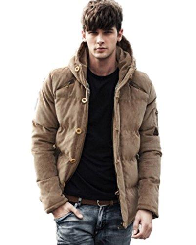 (マガザンレーブ) mgzan rev メンズ ファッション 冬 服 カジュアル ダウン ジャケット アウター フード 付き 防寒着 上着 3 色 M ~ XL DA-5 (06.ベージュ(XL))