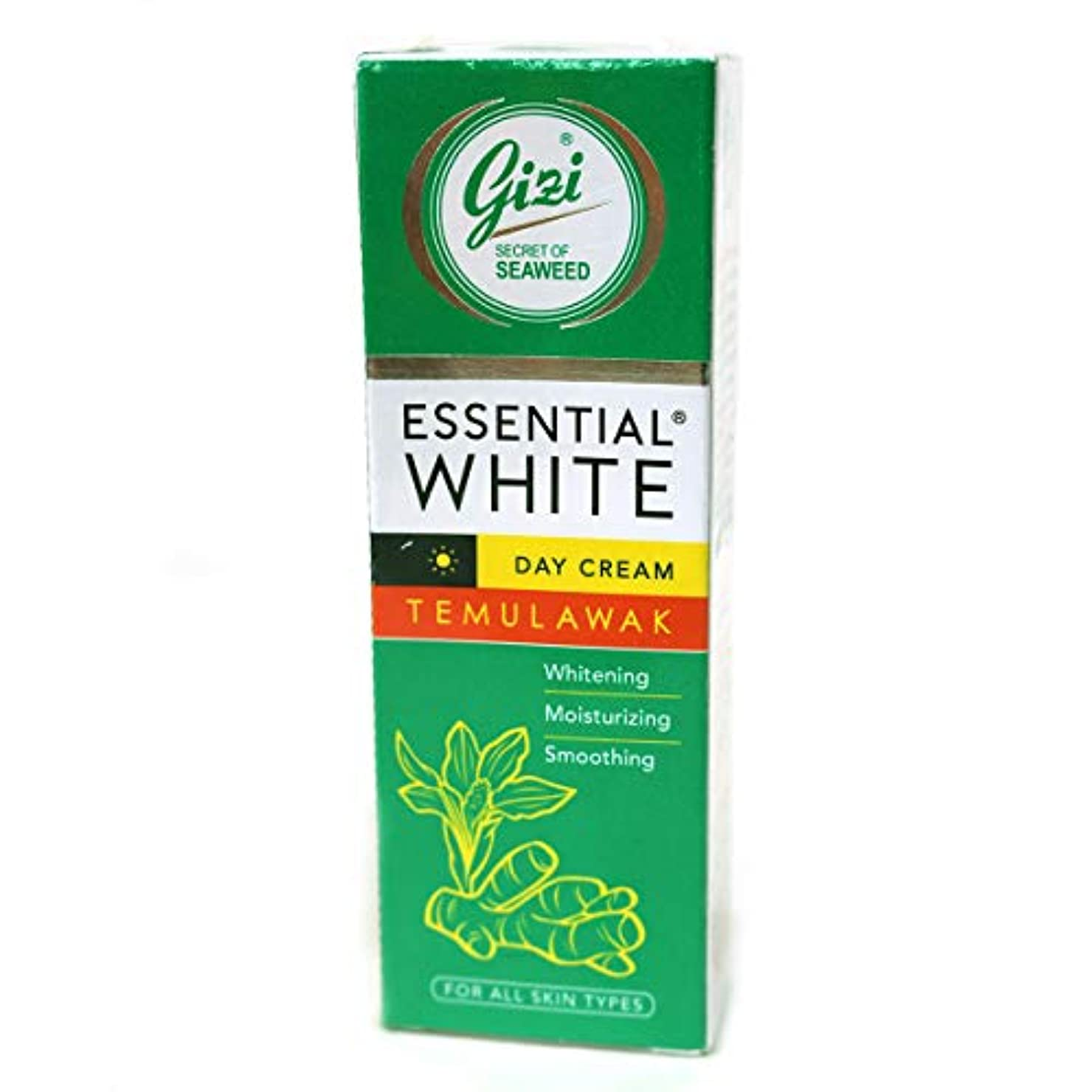 一口学校スライスギジ gizi Essential White 日中用スキンケアクリーム チューブタイプ 18g テムラワク ウコン など天然成分配合 [海外直送品]