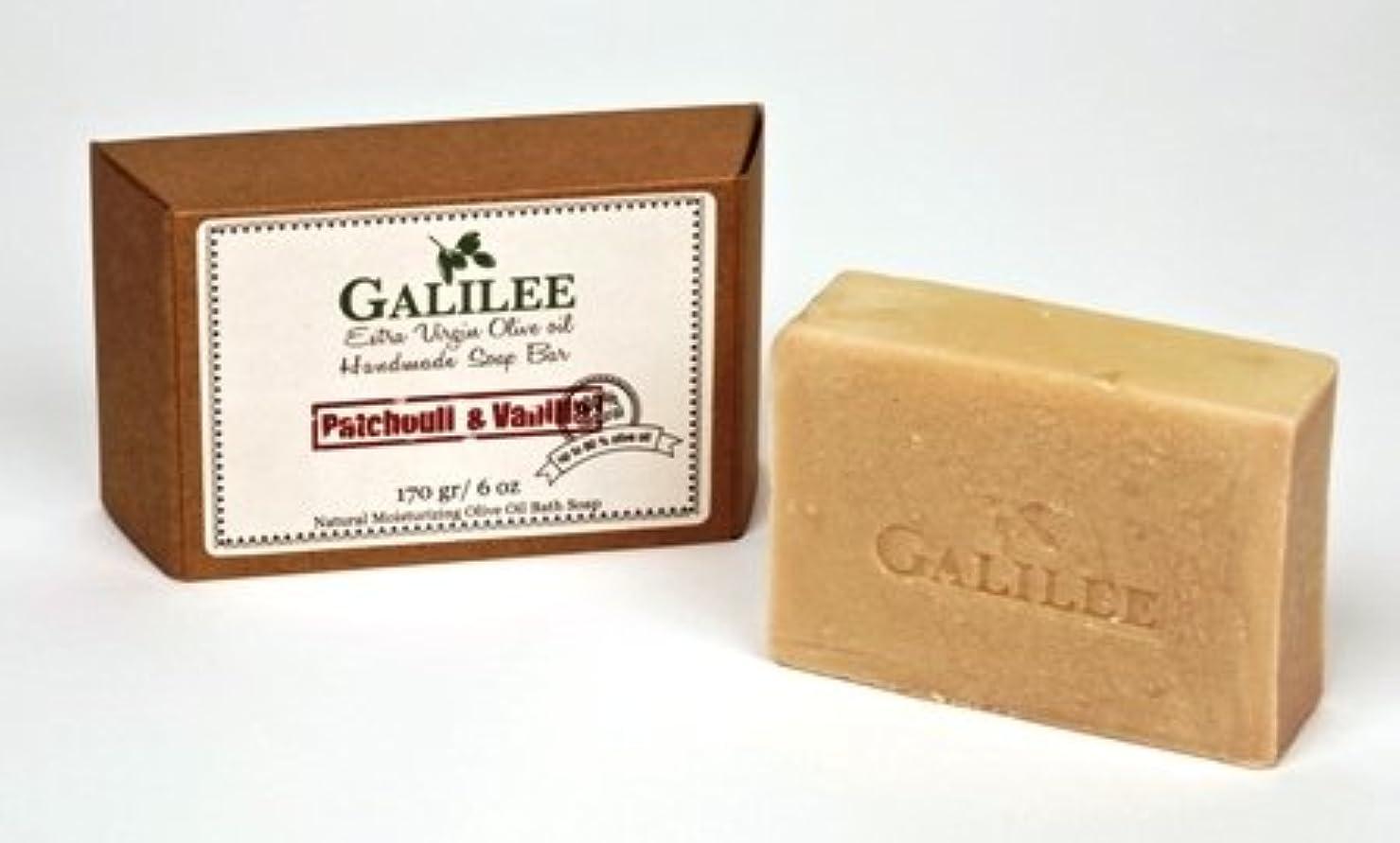 称賛称賛構成Galilee Magic ガリラヤオリーブオイルソープバー 6oz パチュリー&バニラオリーブオイル
