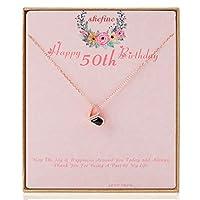 shefine 1969 50歳の誕生日プレゼント レディース 変形可能 ハートネックレス ライフ ロング ラブ プレゼント 彼女 女性 ジュエリー 1969 誕生日 ギフト アイデア ゴールド