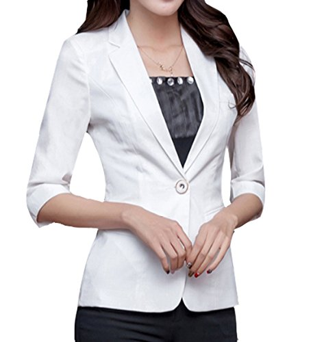 ELPIS Ladies Blazer Short blazer 5 minutes sleeve Slim office commuting suit formal elegant casual SML XL XXL XXXL 4 colors