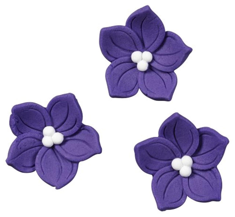 仕事に行く花瓶等しいRoyal Icing Decorations -Purple Posy 12/Pkg (並行輸入品)