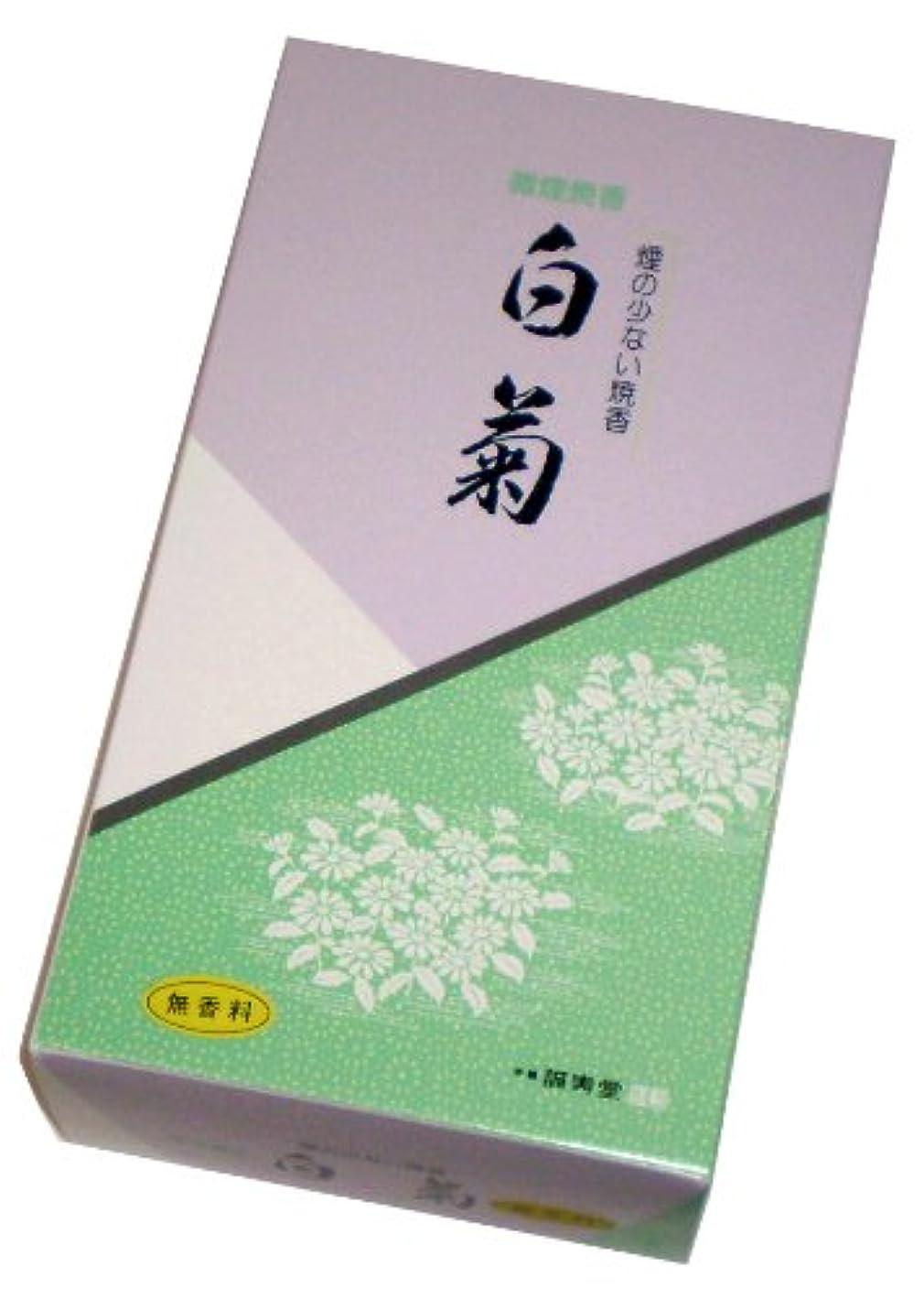 暖かく定規変な誠寿堂のお線香 微煙焼香 白菊(無香料)500g #FN21