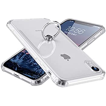 f958bc77e51 Segoi iPhone XR ケース リング付き 衝撃防止 スタンド機能 360度回転 落下防止 アイフォンXRケース TPU ソフトバンパー  傷つき防止 全面保護カバー (iPhoneXR, 透明)