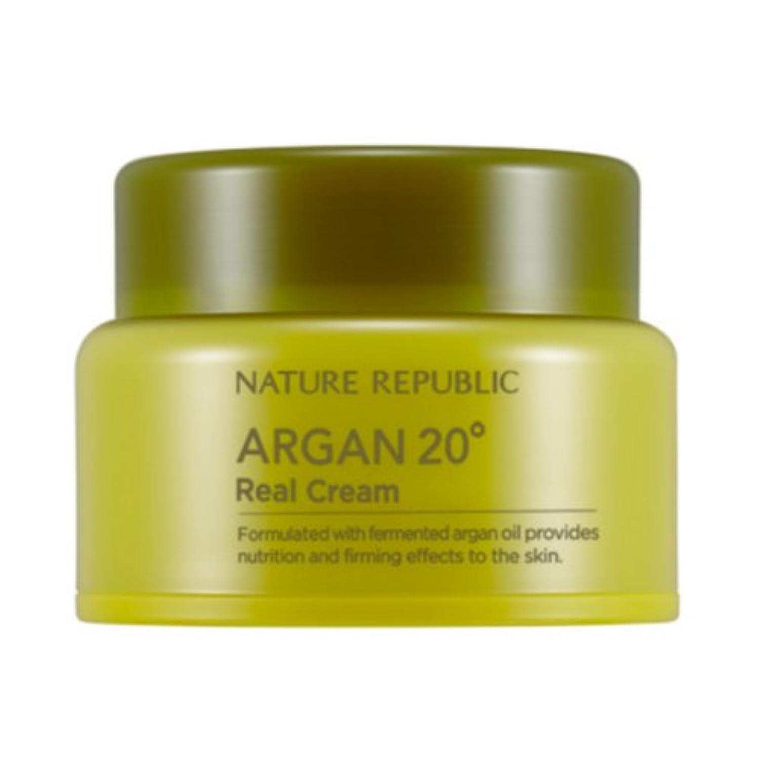 スタンド上へルーチン[ネイチャーリパブリック] Nature republicアルガン20ºリアルクリーム海外直送品(Argan20ºReal Cream) [並行輸入品]