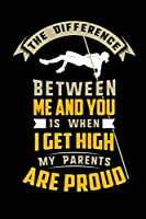The Difference Between Me And You Is When I Get High My Parents Are Proud: 120 Pages I 6x9 I Monthly Planner I Funny Track & Field & Athletics Gifts I Apparel