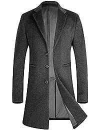 APTRO(アプトロ)コート メンズ 冬ジャケット ロング丈 80%毛 上質ウール オシャレ ビジネス 通勤コート