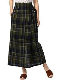 (ノーリーズ) NOLLEY'S ビツクチェックラップ風スカート 8-0040-3-06-003