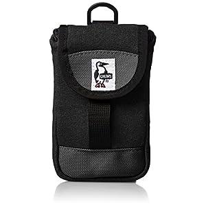 [チャムス] マルチケース Mobile Patched Case・Sweat Nylon CH60-2364-A046-00 K018 ブラックチャコール