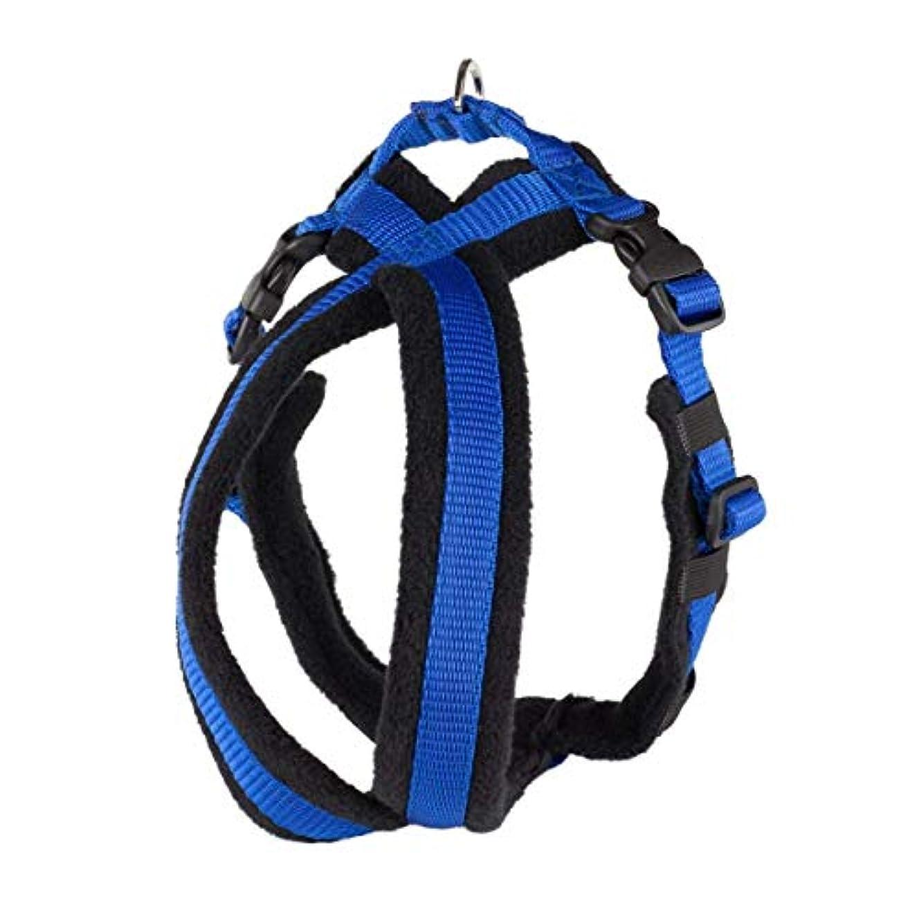 先のことを考える単なるスクラップブックFleece Lined Harness フリースラインドハーネス 1号(超~小型犬用) ブラックブルー