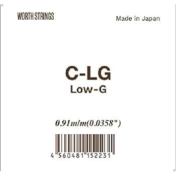 【Worth】 C-LG Low-G 単弦 クリア フロロカーボン弦 (ウクレレ用)