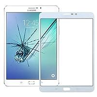 Galaxy Tab S2 8.0 LTE / T719(ブラック)用の新しいフロントスクリーンアウターグラスレンズ Lussy (色 : 白)