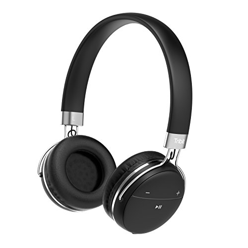 Tribit bluetoothヘッドホン 密閉型 リモコン・マイク付 高音質 14時間再生 軽量 XFree move 3色選べる-黒