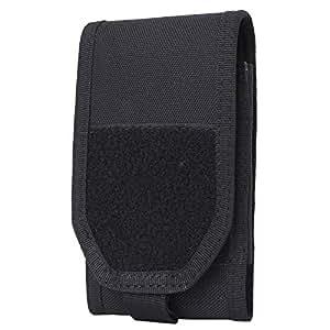 LefRight 高機能スマートフォン ホルスター・ポーチ ミリタリー風 スマホケース ウエストホルダー 収納ポーチ 登山 ポーチ Dリング ロック付き iPhone XR 8 Plus Xperia XZ の対応