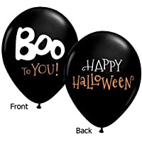 Boo To You Halloween Qualatex Latex Balloons, 11-Inch 25 Per Pack by Qualatex [並行輸入品]