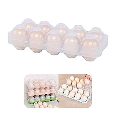 卵ケース 冷蔵庫用 たまごケース アウトドア エッグ携帯ケース 卵入れ10個 エッグホルダー 卵ケース クリア 冷蔵庫用 玉子ケース 卵収納ホルダー 蓋付き 卵ケース キャンプ 卵容器 大容量 卵を簡単に取り出せる 卵入れ 透明ボックス 超省スペース (白)