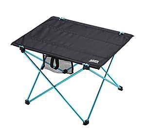 AKUA(アクア) アウトドアテーブル フォールディング アルミフレーム ウルトラライト 折畳みテーブル コンパクト収納 (ブルー, L)