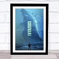 ファッション絵画ポスター - ゴジラ キングオブモンスターズ Godzilla King of the Monsters ゴジラ - 壁掛け 壁飾り - 43x33cm(額縁を送る)