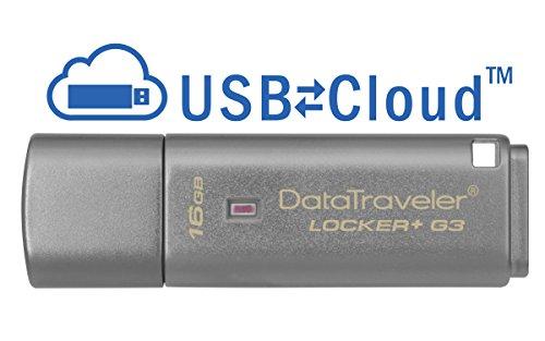 キングストン USBメモリ 16GB USB3.0 セキュリティ機能付き DataTraveler Locker+ G3 DTLPG316GB 5年保証