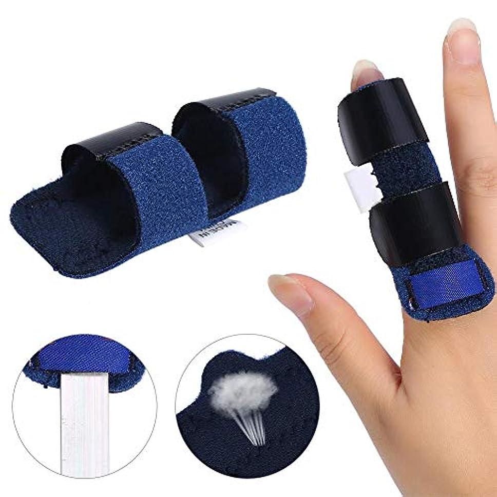 マーベルコマース捧げる指の副木、調整可能なトリガー指の固定副木矯正ブレースコレクターサポート指のひび割れのための痛みの緩和リリースナックルと指の骨折の固定