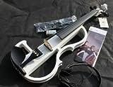 大幅に音エネルギーを低減 ヘッドフォンで演奏を聴ける 初心者の方も気軽に演奏 エレクトリック バイオリン WH 【専用ケース付属】