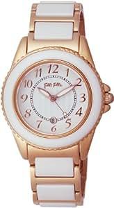 [フォリフォリ]FOLLI FOLLIE 腕時計 CERAMICSPORT ホワイト文字盤 ステンレス/セラミックケース ステンレス/セラミックベルト デイト WF1R001BDW レディース 【並行輸入品】