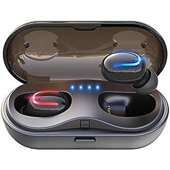[2019最新版 Bluetooth5.0 イヤホン] Bluetooth イヤホン 5.0 120時間超長待機 最新Bluetooth5.0+EDR搭載 Hi-Fi 高音質 完全ワイヤレス イヤホン 自動電源オン・オフ Bluetooth イヤホン 自動ペアリング ブルートゥース イヤホン Bluetooth イヤホン IPX5防水 Siri対応 日本語音声提示 AAC対応 左右分離型 充電ケース付き 片耳&両耳とも対応iPhone/ipad/Android