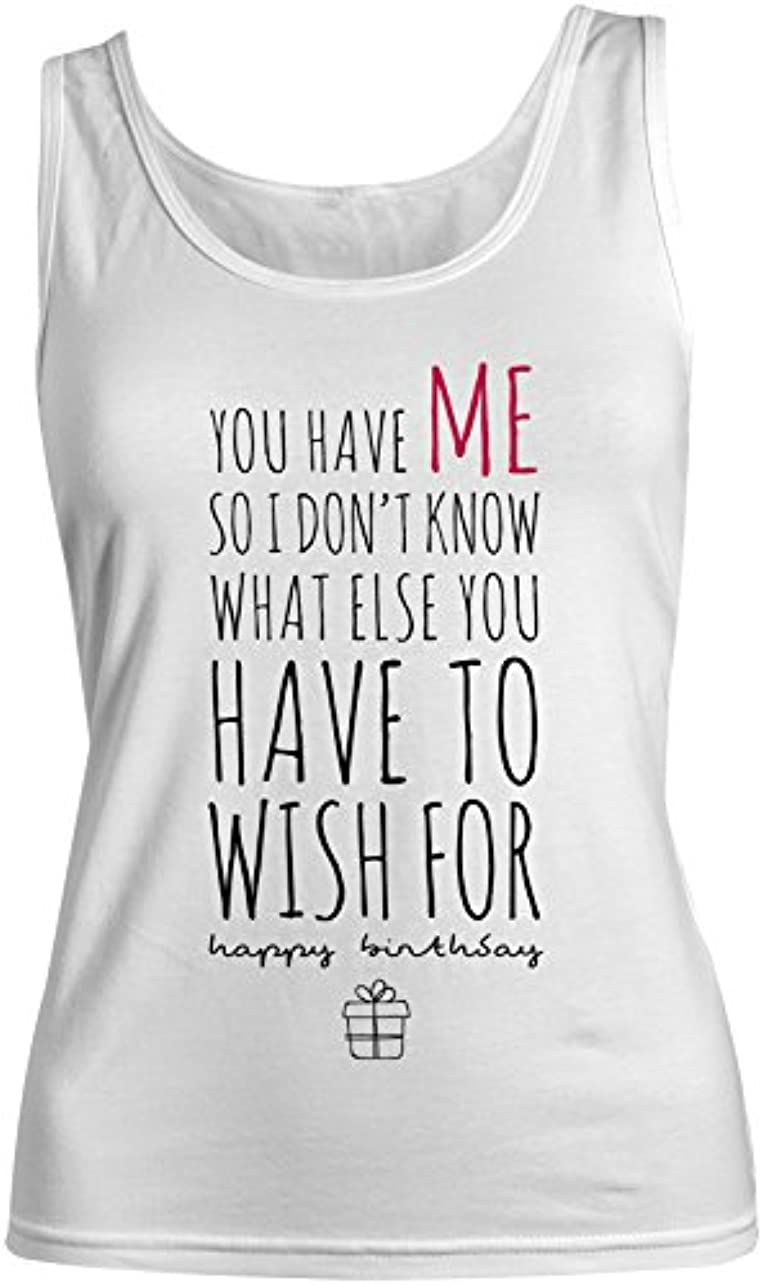 確かなフランクワースリー証言するWhat Else You Have To Wish For おかしいです Happy お誕生日 レディース Tank Top Sleeveless Shirt