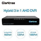 Giantree 720P監視DVRシステム、4CH 720PセキュリティDVRレコーダー+ 4 HD 1.0 MPアウトドア1280 * 720P CCTVの弾丸カメラ /(100フィート優れたナイトビジョン、簡単にリモートアクセス、モーションNO HDD) (4 Cameras + 4CH DVR)
