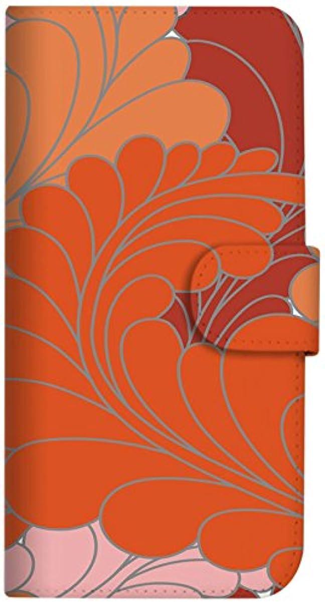 うるさい死んでいる偽装するmitas iPhone X ケース 手帳型  リーフ柄 レッド (352) SC-0071-RD/iPhoneX