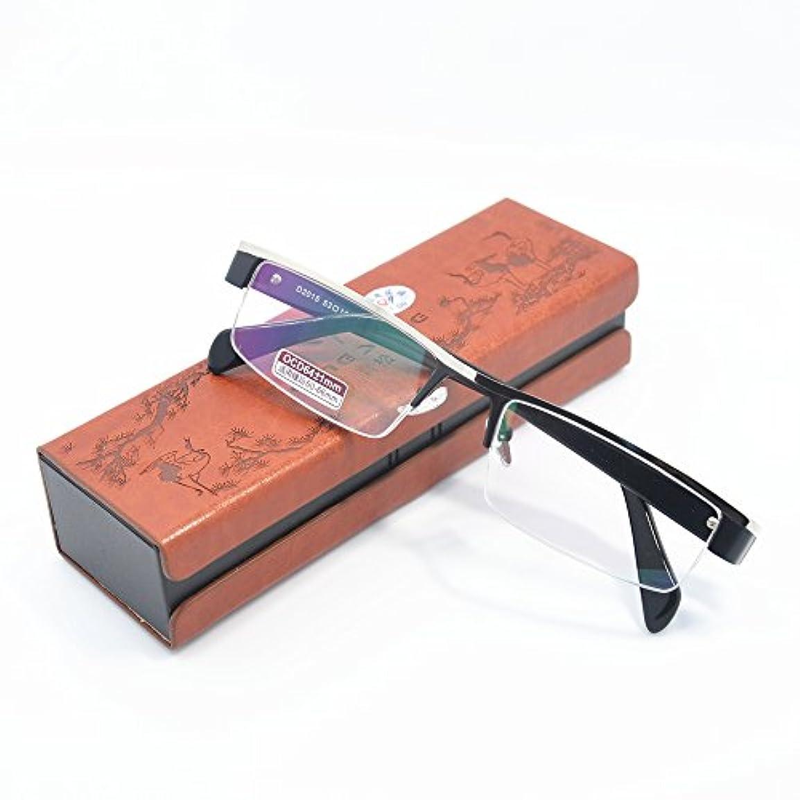 選挙魔女北へチタン合金フレーム非球面老眼鏡 おしゃれリーディンググラス 度数「+1.0~+4.0」yr2015 (+2.5)
