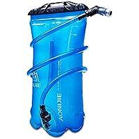 ストローウォーターバッグ、ポータブル1.5L / 2L / 3L厚いTPUウォーターバッグ、大容量屋外飲料水バッグ付き屋外スポーツZDDAB