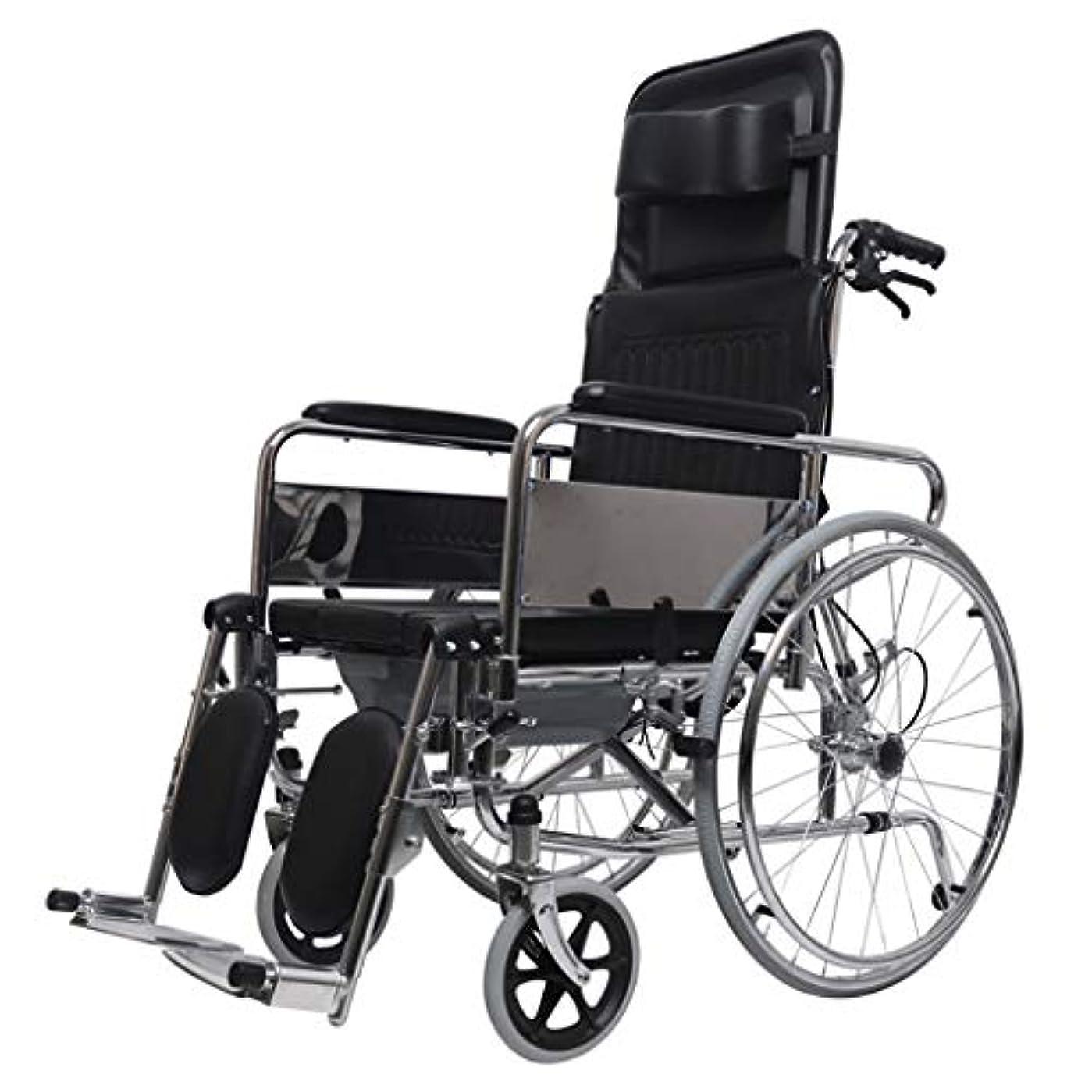 印象的な全体にメイド車椅子トロリー、ブレーキ付き多機能折りたたみ、高齢者向け車椅子、屋外旅行、優れたヘルパー