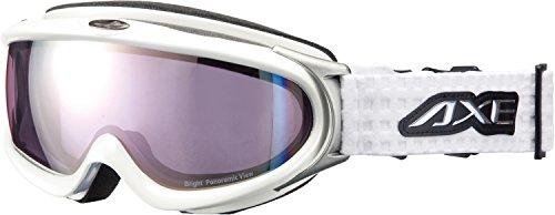 AXE(アックス) スキーゴーグル UVカット メンズ オールラウンド ピンクミラーレンズ ホワイト AX888-WPK