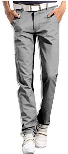 【NewEdition GOLF®】 カラー・ストレッチ・チノパン全12色7サイズ小さい~大きいサイズNEG-026 (グレー, M)