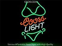 ライトビキニガールCoors Light Bikini Girlネオンサイン ライトNEON SIGN ビールバー 装飾壁・電飾・標識・広告用看板、クラブ及び娯楽場所等 インテリア