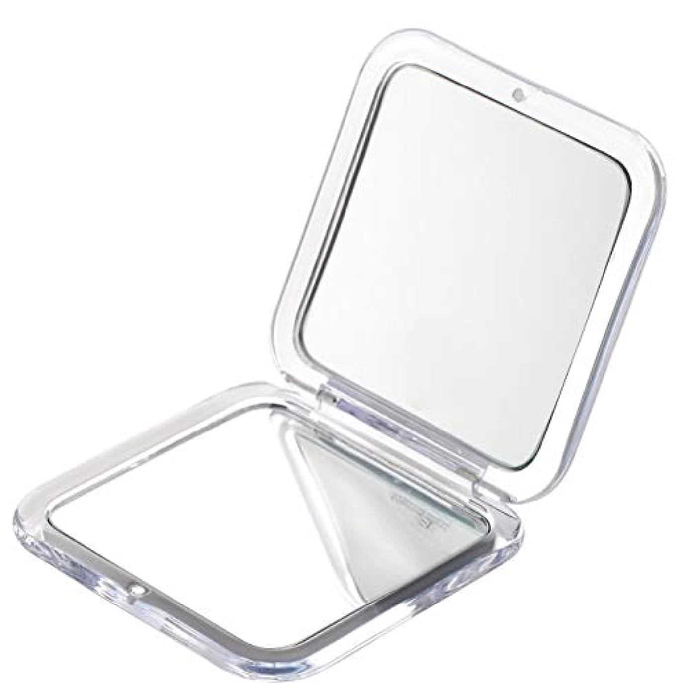 一目放棄浸したMiss Sweet コンパクトミラー 両面鏡 化粧鏡 拡大鏡 1倍*5倍